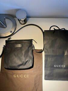 Gucci GG Nylon Monogram Cross Body Messenger Bag With receipt AUTHENTIC