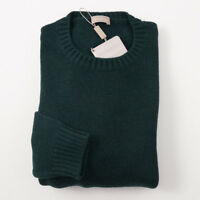 NWT $690 CRUCIANI Forest Green Thick Merino Wool Sweater Tall M MT