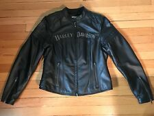 Harley-Davidson Women's Miss Enthusiast 3 in 1 Leather Jacket Size M(97129-16VW)