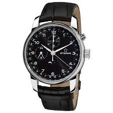 Eterna Men's Soleure Swiss Automatic Black Leather Strap Watch 834041.441175