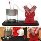 V Type Mini Hot Live Steam Engine V-Twin LED Cylinder Model Education Toy Kits