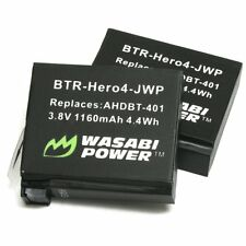 Wasabi Power Battery 1160mAh (Twin Pack) for GoPro HERO4 and GoPro AHDBT-401