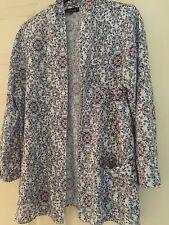 New Look Floral Cotton Jacket/kimono Size 12 BNWOT
