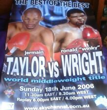 1 X BOXING POSTER 80 X 58 CM JERMAIN TAYLOR V RONALD WRIGHT BEST OF BEST