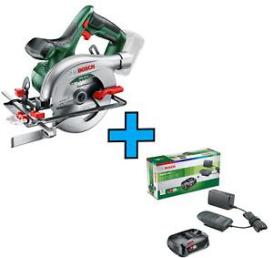 Bosch Akku-Handkreissäge PKS 18 LI + Akku Starter-Set 18V 2,5 Ah mit Ladestation