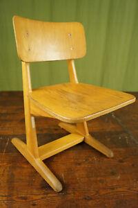 50er casala Child's School Chair Retro Children's Vintage Desk Wood 60er 2
