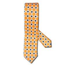 Expédié de Paris - Cravate Fine Orange Etoiles Homme Femme Élégante Gothique