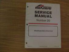 VINTAGE 1994 MERCURY MERCRUISER SERVICE MANUAL #20 BLACKHAWK STERN DRIVE UNIT