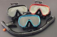 GoPro Mask and Dry Snorkel - Snorkelling Diving Liquid Silicone Set WIL-DS-32
