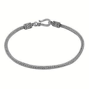 Handmade 925 Sterling Silver Tulang Naga Bali SNAKE CHAIN BRACELET - 2.5 MM