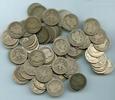TWO ROLLS OF BARBER QUARTERS 80 TOTAL/FEW EARLY DATES/ UNSEARCHED BY ME