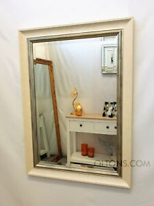 Large John Lewis Orabelle Wall Mirror Ivory Gilt Champagne Wood Frame 130x76cm