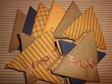 Pumpkin Spice & Black Set of 5 Fat Quarters FQ Dunroven House Homespun Fabric