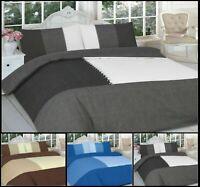 Luxury SUEDE Patch Reversible Duvet Quilt Cover+Pillow Case Bedding Set Al Size