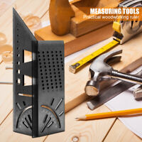 45+90 Degree Metric Measuring Angle Ruler Protractor Gauge for DIY Woodworking