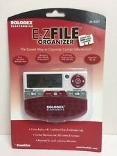 Franklin Rolodex Electronics E-Z File Organizer RK-8201 Brand New