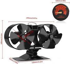 Mini Size 8 Blade Stove Fan – Silent, Heat Powered Wood/Log Burner 8