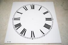 CLOCK DIAL NEW  WALL / MANTEL CLOCK PARTS 11 INCH WHITE DIAL