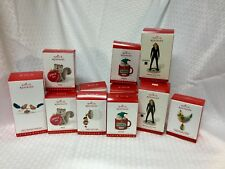 Lot Of 14 Hallmark Christmas Ornaments~Birds~Snowman~Squirrel~Niece~Nephew~Band~