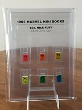1966 Marvel Mini Books SGT. NICK FURY Set of 6 Colors in Clear Display