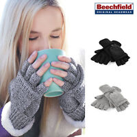 Beechfield Fliptop Gloves -Warm Winter accessory worn as mittens or fingerless