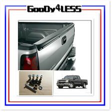 1999-2006 Silverado Sierra Black ABS Tailgate Spoiler Protector OE Style Set