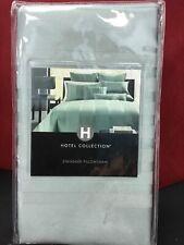Nip Hotel Collection Luxury Standard Pillow Sham Frost Green Classic Stripe $95