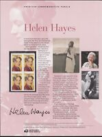 US #869 (44c) Forever Helen Hayes #4525 USPS Commemorative Stamp Panel