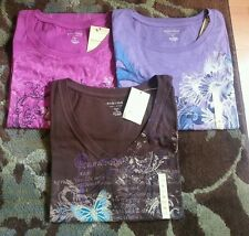 3 Ladies tops size 1X. Brand new with tags orig retail is $24.00 each