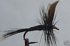 1 x Mouche Sèche Moucheron Noire H14/16 mosche black fly fliegen dry