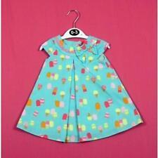 BNWOT BABY GIRLS SUMMER ICE-CREAM PATTERN DRESS AGES 0 - 9 MONTHS