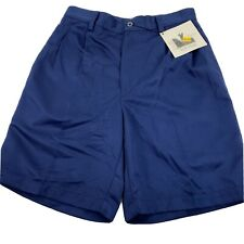 New listing NWT Men's TOP-FLITE By Spalding Size 30  100% Polyester Blue Golf Shorts   U17