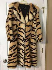 Vintage Tiger Print Fur Coat Famous Lepport Roos St. Louis