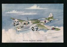 Aviation Military air force RAF BRISTOL BEAUFORT Artist Bannister cWW2 PPC