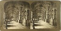Italia Roma Vaticano Biblioteca Pape, Foto Stereo Vintage Analogica PL62L6