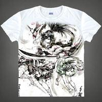 Anime Dororo Hyakkimaru Unisex T-shirt Cosplay White Tee Otaku S-3XL#AL1864