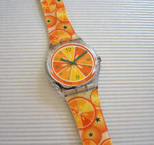 SO FRESH! Swatch JUICY ORANGE Watch & Band! MIB-RARE!