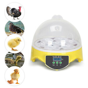 Inkubator Vollautomatische Brutmaschine 7 Eier Motorbrüter Hühner Brutapparat