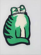 Embroidery Patch: Fancy Green Cat