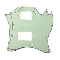 2pcs Guitar Pickguard Scratch Plate For SG Standard Full Face Mint Green 3 Ply