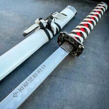 Japanese Samurai Sword Katana High Carbon Steel Ninja Blade White Dragon Tang