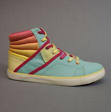 O'Neill Dally Mid Azur 59.1068.01 Turnschuhe Sneakers Damen blau pink gelb 36 37