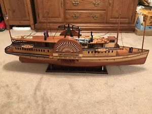 "RARE MS MOUNT WASHINGTON Handmade Wooden Model Ship  45"" Long, Fantastic Find"