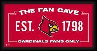 "Louisville Cardinals Framed 10"" x 20"" Fan Cave Collage - Fanatics"