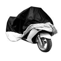 Housse de protection en polyester pour le Moto taille: XXXL Noir et argent X2 9T