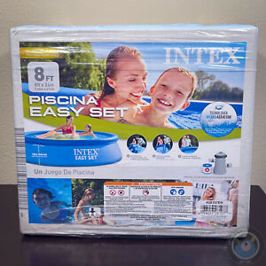 Intex 8 ft x 30 in Easy Set Swimming Pool w/ Filter & Pump In Hand Ships Today!