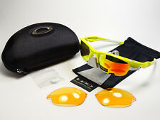 3491b363bd785e Oakley Fast Jacket Lemon Peel Polarized Array Sonnenbrille Split Jawbone  Racing