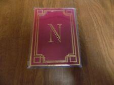 "New 80 Sheet Midnight Jewel Theme Blank Journal Initial ""N"""