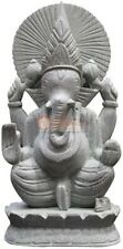 "12"" Off White Handmade Decorative Ganesha Sculpture Thanksgiving Gift Decor Arts"