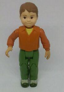 Fisher Price Mattel Loving Family Dollhouse Brother Boy Green Pants Orange Shirt